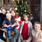 Christmas Tree with Children in Ashover Church