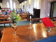 wessington church inside from the altar